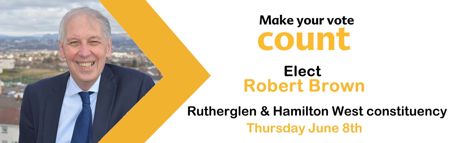 Vote Robert Brown -Rutherglen & Hamilton West seat 2017